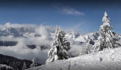 Rifugio Albi de Mez in inverno in winter