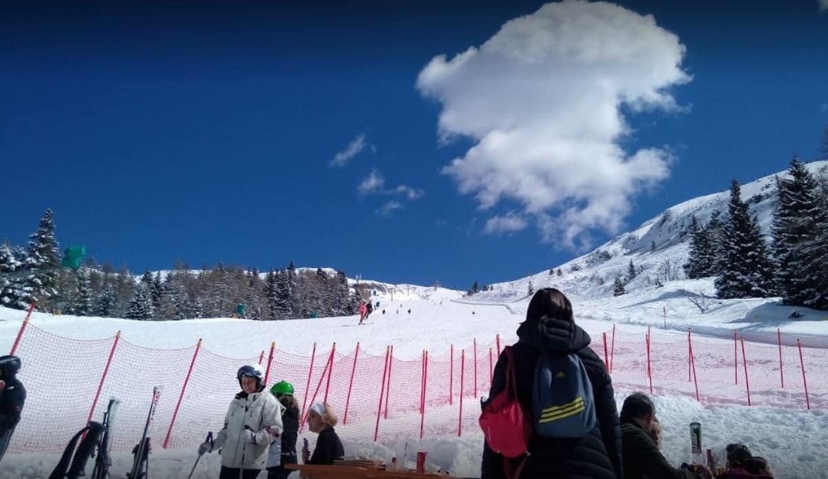 Rifugio Albi de Mez in inverno